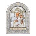Икона Божьей Матери Вифлиемская.Шелкография, оклад из алюминия с патиной. Основание из кожи под стеклом.