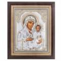 Икона Божьей Матери Иерусалимская.Шелкография,оклад из алюминия.Специальная серия.