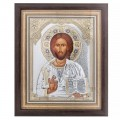 Икона Христос Спаситель.Шелкография,оклад из алюминия.Специальная серия.