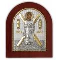 Икона Святого Андрея Первозванного. Шелкография, оклад в серебре. Основание из дерева.