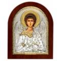 Икона Ангел Хранитель. Шелкография, оклад в серебре,золотой декор. Основание из дерева.