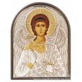 Икона Ангел Хранитель. Шелкография, оклад в серебре. Основание из пластика.