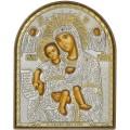 Икона Божьей Матери Достойно Есть. Шелкография, оклад в серебре. Основание из пластика.