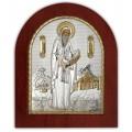 Икона Святой Герасим. Шелкография, оклад в серебре. Основание из дерева.