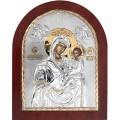 Икона Божьей Матери Скоропослушница Божия. Шелкография, оклад в серебре. Основание из дерева.