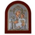 Икона Божьей Матери Вифлеемская. Шелкография, оклад в серебре. Основание из дерева.