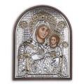 Икона Божьей Матери Вифлеемская. Шелкография, оклад в серебре. Основание из пластика.