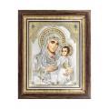 Икона Божьей Матери Иерусалимская.Шелкография,оклад из серебра.Специальная серия.