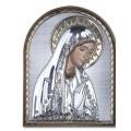 Икона Божьей Матери Мария. Шелкография, оклад в серебре. Основание из пластика.